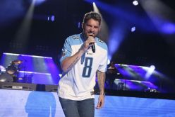Artist Brett Young performs at the 2018 CMA Music Festival at Nissan Stadium on Friday, June 8, 2018 in Nashville, Tenn. (Photo by Laura Roberts/Invision/AP)