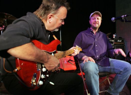 Tony Deziel of Watertown, right, is shown at Camp Jam in Atlanta in 2005. Deziel has a new Christmas song on iTunes and CDbaby.com Associated Press