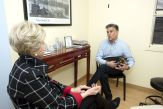 Dr. Paula Moynahan talks with client Clayton Reid of Norwalk inside the one of the examining rooms in offices in Middlebury on Wednesday. A growing number of American men are having cosmetic surgery to improve their looks and increase their confidence. Jim Shannon Republican American