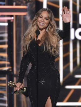Mariah Carey accepts the Icon award at the Billboard Music Awards on Wednesday, May 1, 2019, at the MGM Grand Garden Arena in Las Vegas. (Photo by Chris Pizzello/Invision/AP)
