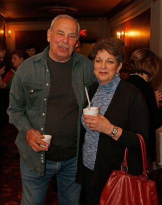 (from left) Paul Mirabelle and Donna Coviello gathered for the during the third annual UNICO meatball contest at the Palace Theatre Tuesday evening. Francine Nido, national secretary, said this was the third year for the event with eleven local restaurants participating and two-hundred twenty-five pre-paid ticket holders along with many hungry people paying at the door. Nido stated that the funds raised during this contest will benefit local scholarships and charities. Michael Kabelka / Republican-American