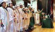 Steven Valenti Republican-AmericanGraduates line up at Wilby High School's graduation in Waterbury.
