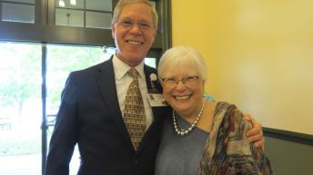 Jim Hutchison of Sharon Hospital and Carolyn DiDomenico