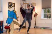 """WOODBURY, CT. 24 November 2019-112419BS206 - Dancers of the Main Street Ballet of Woodbury perform a scene from the popular Christmas Tale """"The Nutcracker"""" for children and families at the Woodbury Public Library gallery on Sunday. Bill Shettle Republican-American"""