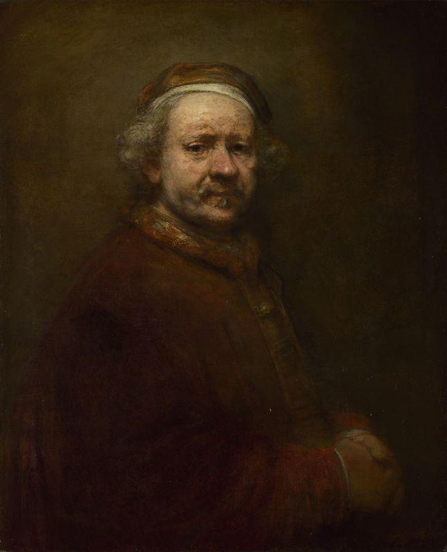Rembrandt, self-portrait at age 63