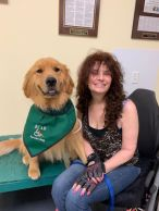 ECAD Client Debbie Tannenbaum and Service Dog Victory from Westborough, Mass.