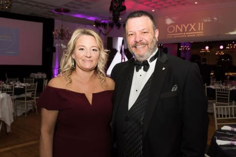 Saint Mary's Hospital Foundation board chairman Frank Monteiro and wife Sandy attend the hospital's 29th annual Gala on Feb. 1 at the Aqua Turf Club in Plantsville.