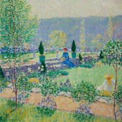 Will Howe Foote, 'Summer,' ca. 1913. Oil on canvas, 30 x 30 inches, Florence Griswold Museum, Gift of Mr. and Mrs. Robert H. Krieble