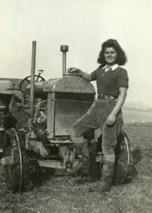 Betty Merritt with her tractor