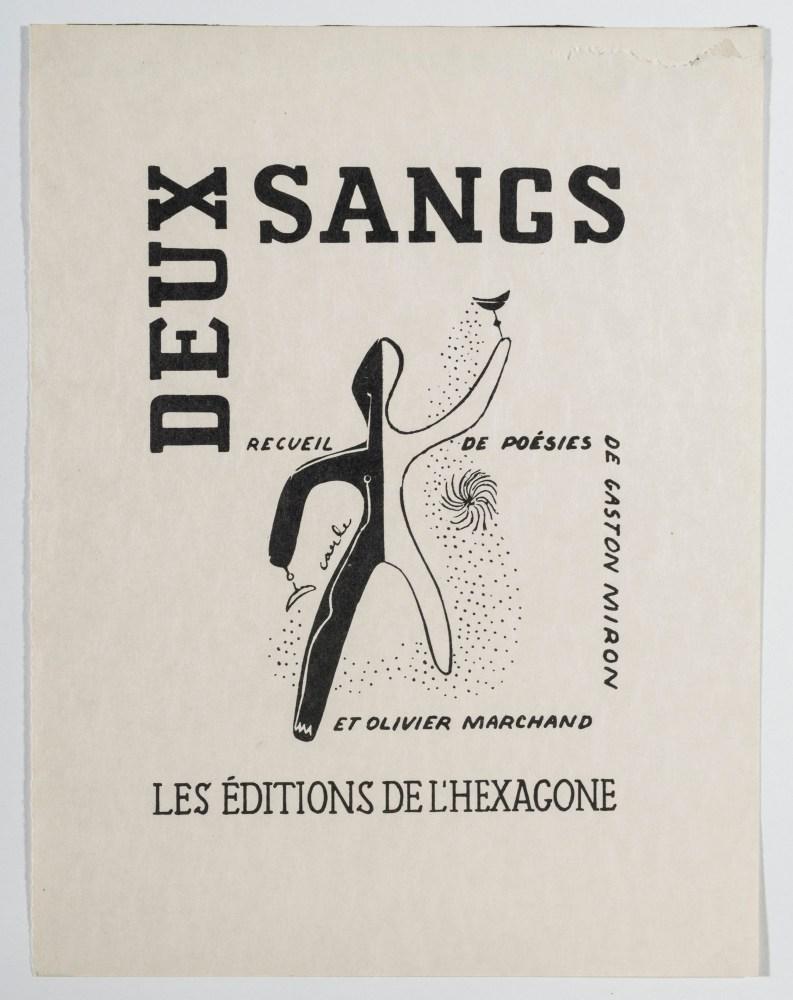 Couverture du recueil de poèmes Deux sangs d'Olivier Marchand et Gaston Miron