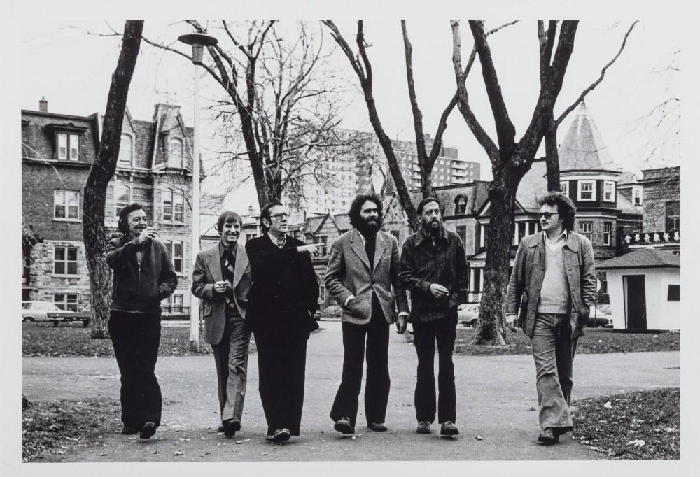 L'équipe de l'Hexagone, au carré Saint-Louis à Montréal, 1978.