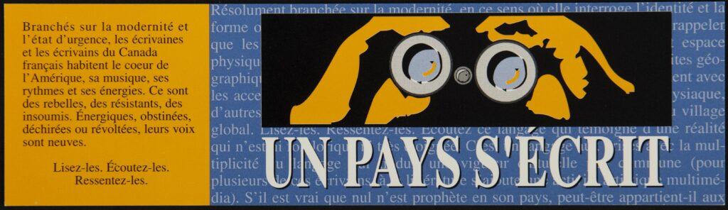 Signet. Un pays s'écrie. Regroupement des éditeurs canadiens-français.