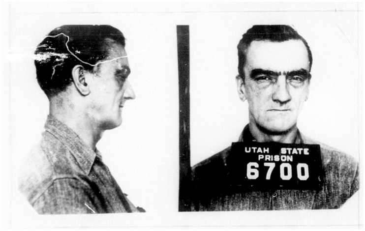 Photograph of Elmer Gray (aka Woodrow Lamb) at Utah State Prison