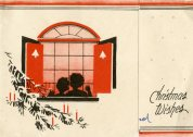 Children in the Window Christmas Card