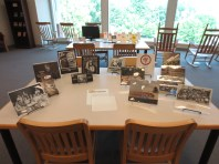 Display of calendars and photographs from the Coal Employment Project Records.