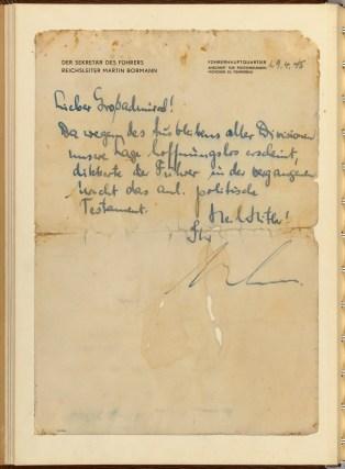 Bormann's Letter of Transmittal