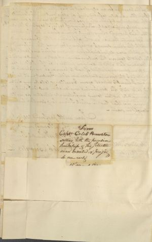 Letter from Caleb Brewster to President George Washington, in Series NAID 583574, Letters Received (Misc?), March 15, 1792, p. 4.