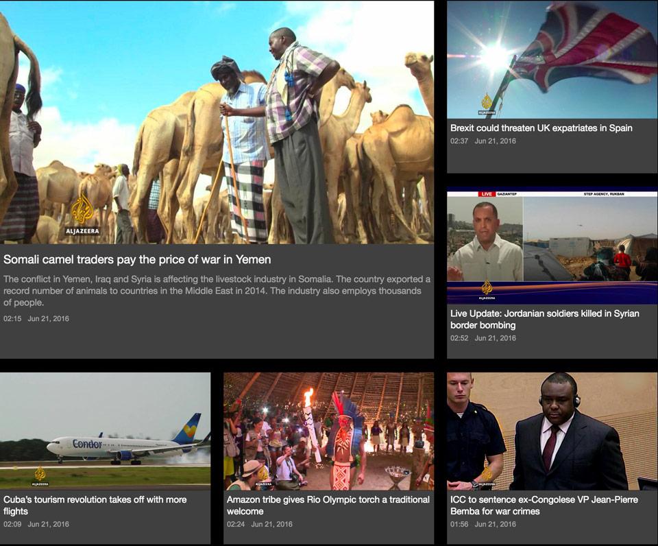 Al Jazeera example of a list.