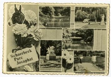 Aandenken van het Josaphatpark in Schaarbeek (circa 1950)