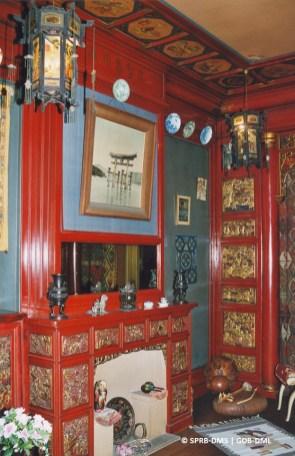 Maison de Saint-Cyr, square Ambiorix n°11 (Bruxelles-ville), salon chinois, architecte : Gustave Strauven | Herenhuis de Saint-Cyr, Ambiorixsquare nr. 11, chinese salon, architect : Gustave Strauven - © Monuments & Sites – Bruxelles