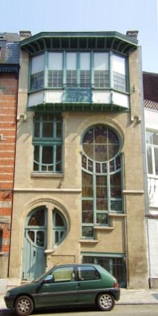 Maison-atelier de Clas Gruner Sterner, rue du Lac n°6 (Ixelles), architecte : Ernest Delune | Huis-atelier van Clas Gruner Sterner, Meerstraat nr. 6 (Elsene), architect : Ernest Delune – photo Wikipedia
