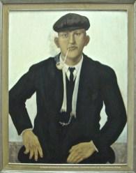 Constand MONTALD, Portrait de jeune paysan, détrempe sur carton, 1917, 108x90cm, collection du Musée communal de Woluwe-Saint-Lambert