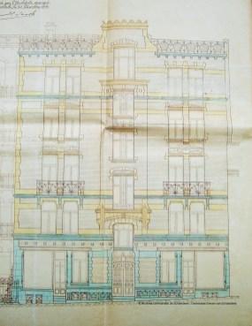 Rue L'Olivier, plan, 1902, Archives de l'Urbanisme de Schaerbeek | L'Olivierstraat, plan, 1902, Archieven van de Stedenbouw van Schaarbeek