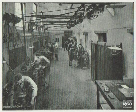 Werkplaats voor machines
