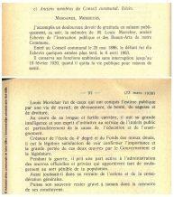 Discours prononcé lors du Conseil communal du 23 mars 1939 suite au décès de Louis Morichar.