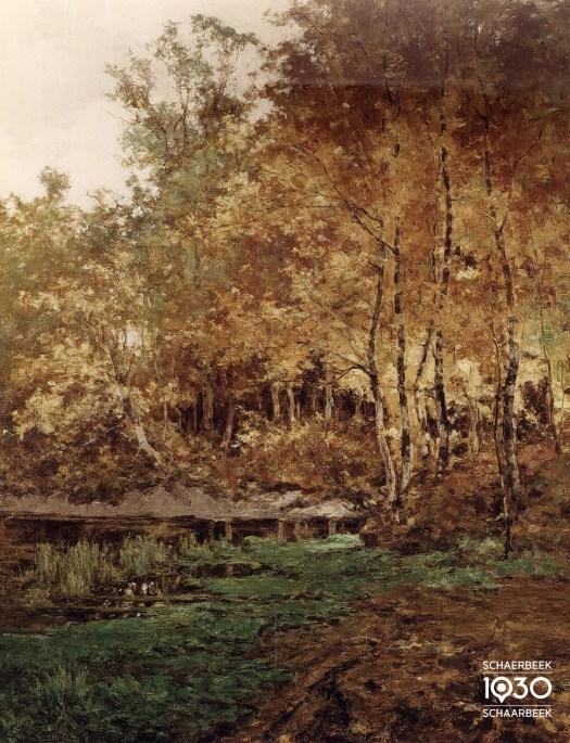 "Eugène Plasky, ""Automne au Parc Josaphat », Kunstcollectie van de gemeente (inv. 180)"