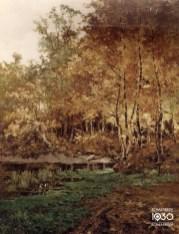 """Eugène Plasky, """"Automne au parc Josaphat"""", Collection artistique communale (inv. 180)"""