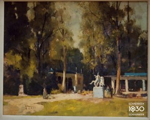 "Gérard Moortgat, ""Printemps au parc Josaphat"", Collection artistique communale (inv. 422)"