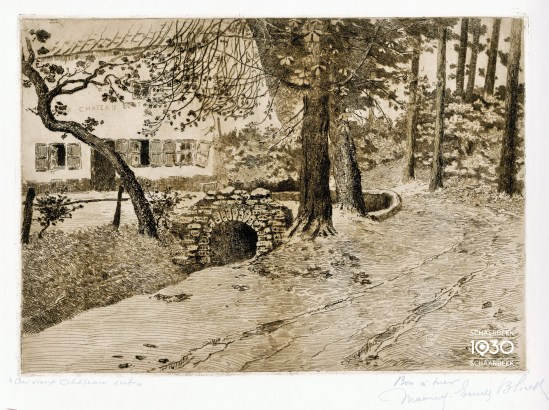 "Maurice Blieck, ""Au vieux château vert"", Archives communales de Schaerbeek"