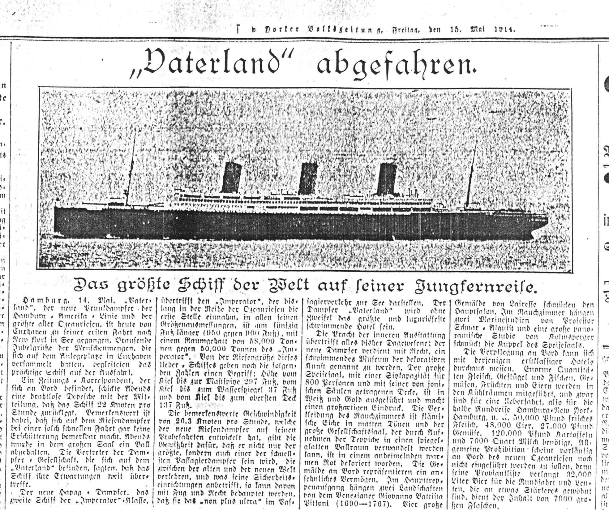 New Yorker Volkszeitung - 1914