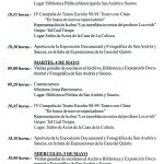 30. Programa de la I Semana Cultural de San Andrés y Sauces. Recoge la Exposición Documental y Fotográfica de 1999 (2)
