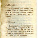 5. Programa de la inauguración del AMSAYS · San Andrés y Sauces
