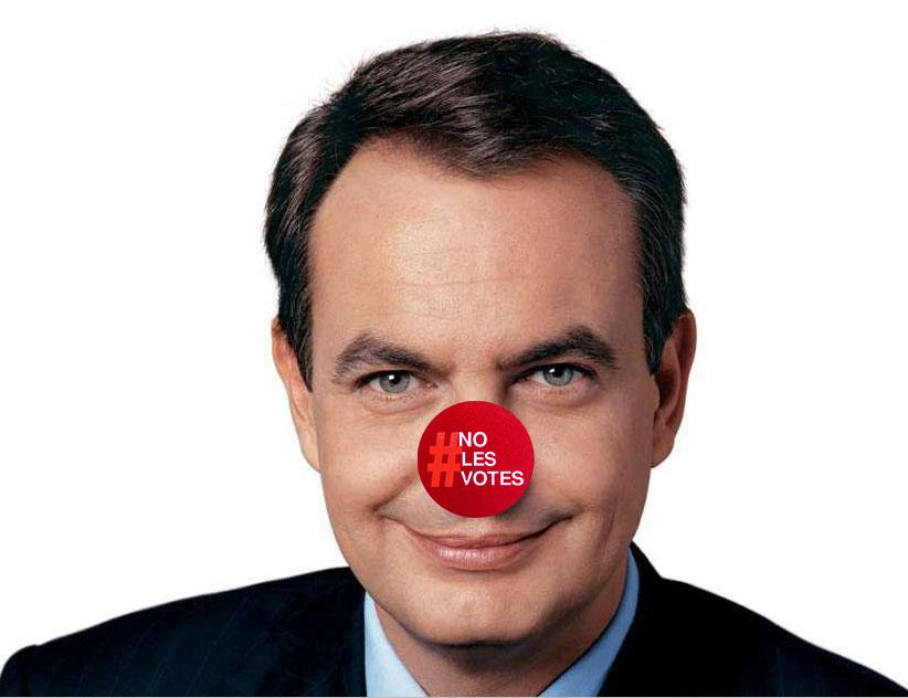 ZP con su nariz #nolesvotes en un hack de la pagina del PSOE 09/04/2011
