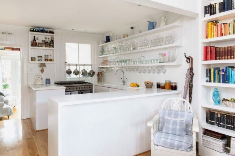 Open Shelving in A Simple Kitchen Design