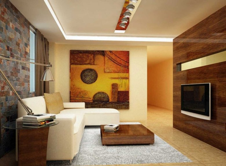 Living Room with Indian Home Decor Ideas
