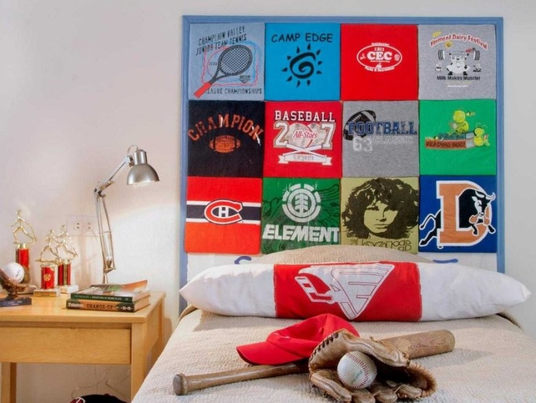 Making A Headboard with Your T-Shirt Collection