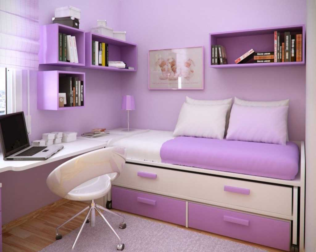 14+ Beautiful Girls Bedroom Ideas For Small Rooms (Teenage