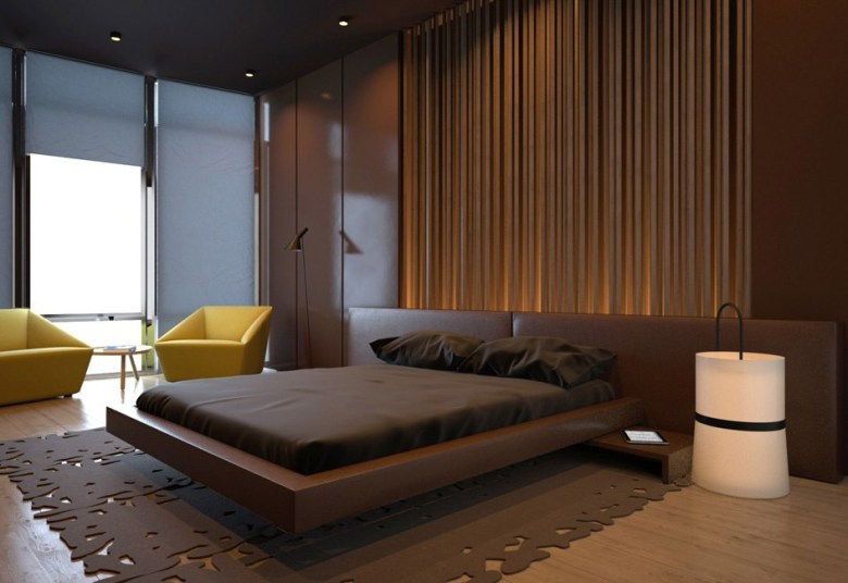 Floating Bed and Earthy Color
