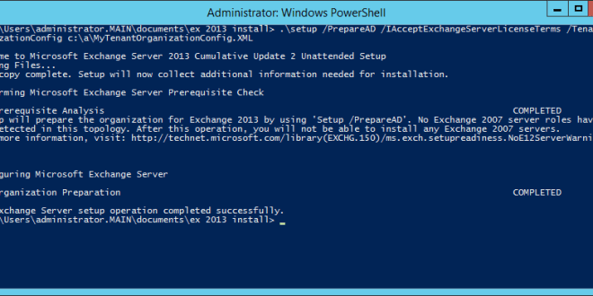 Exchange Server 2013: Active Directory preparation