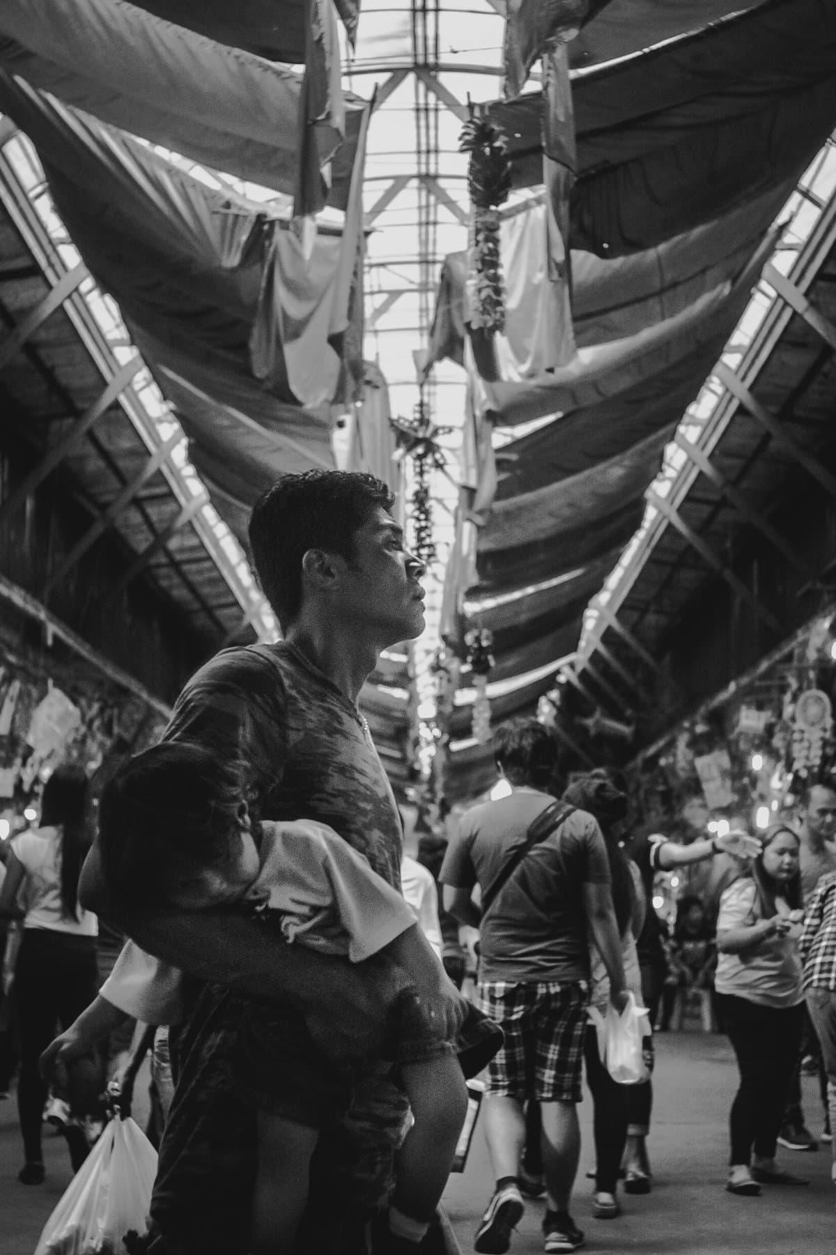 Father & child. Baguio City public market.