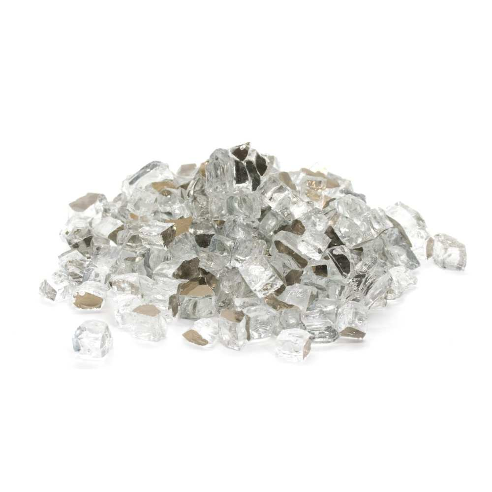 fire glass silver reflective for fire pits and fire tables