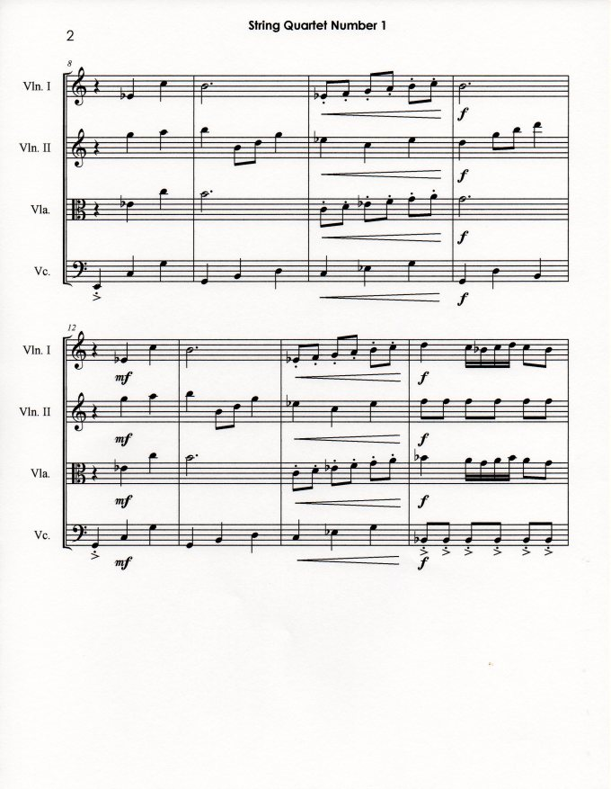 String Quartet Number 1 p2