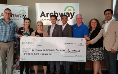 Prospera Donates $25,000 towards Mental Wellness at Archway