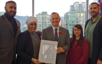 Anti-Gang Program Awarded BC Youth Leadership Award