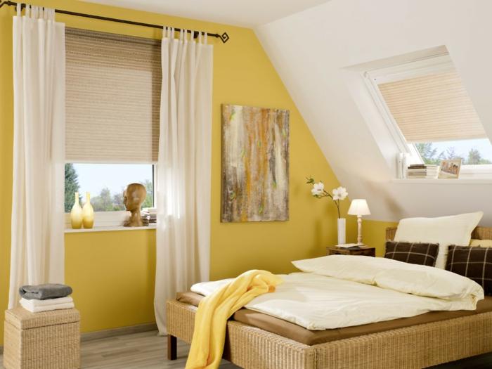 Yellow Wicker Furniture