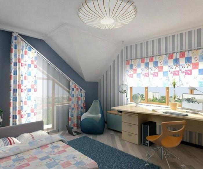 1001 Ideas For Gorgeous Attic Room Curtain Ideas
